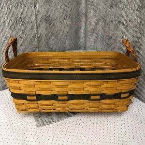Longaberger Welcome Home Basket with protector